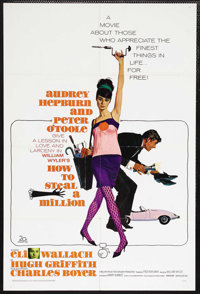 "How to Steal a Million (20th Century Fox, 1966). One Sheet (27"" X 41""). Romantic Crime Comedy. Starring Audrey..."