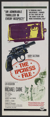 "The Ipcress File (Universal, 1965). Insert (14"" X 36""). Spy Film. Starring Michael Caine, Nigel Green, and Sue..."