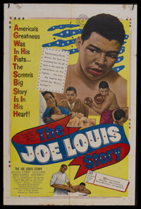 """The Joe Louis Story (United Artists, 1953). One Sheet (27"""" X 41""""). Sports Biography. Starring Coley Wallace, P..."""