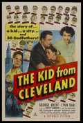 "Movie Posters:Sports, The Kid From Cleveland (Republic, 1949). One Sheet (27"" X 41""). Sports Drama. Starring The Cleveland Indians Baseball Team, ..."
