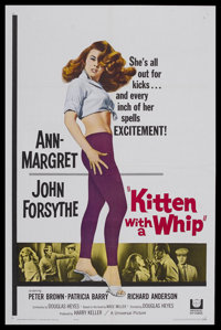"Kitten with a Whip (Universal, 1964). One Sheet (27"" X 41""). Juvenile Delinquent. Starring Ann-Margret, John F..."