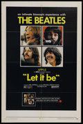 "Movie Posters:Musical, Let It Be (United Artists, 1970). One Sheet (27"" X 41""). Musical Biography. Starring The Beatles. Directed by Michael Lindsa..."