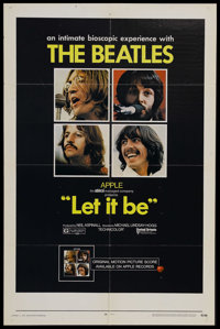"""Let It Be (United Artists, 1970). One Sheet (27"""" X 41""""). Musical Biography. Starring The Beatles. Directed by..."""