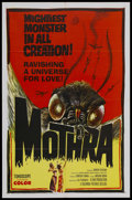 "Movie Posters:Science Fiction, Mothra (Columbia, 1962). One Sheet (27"" X 41""). Science Fiction.Starring Frankie Sakai, Akihiro Tayama, and Emi and Yumi It..."