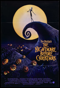 "The Nightmare Before Christmas (Touchstone, 1993). One Sheet (27"" X 41"") Double-Sided. Animated Musical. Starr..."