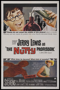 """The Nutty Professor (Paramount, 1963). One Sheet (27"""" X 41""""). Comedy. Starring Jerry Lewis, Stella Stevens, De..."""