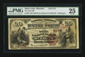 National Bank Notes:Missouri, Saint Louis, MO - $20 1882 Brown Back Fr. 504 The State NB Ch. #(M)5172. ...