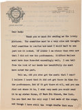 "Autographs:Authors, Edna St. Vincent Millay Typed Letter Signed ""Vincent""...."
