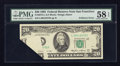 Error Notes:Foldovers, Fr. 2075-L $20 1985 Federal Reserve Note. PMG Choice About Unc 58EPQ.. ...