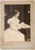 Photography:Cabinet Photos, Helen Keller Early Cabinet Photo. ...