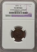 1878 1C --Environmental Damage--NGC Details. VG. NGC Census: (0/572). PCGS Population (0/380). Mintage: 5,799,850. (#213...