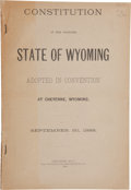Books:Non-fiction, [Women's Suffrage] Constitution of the Proposed State of Wyoming......