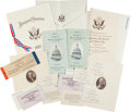 Miscellaneous:Ephemera, Senator Reed Smoot's Mementos From Theodore Roosevelt's SecondInauguration, March 4, 1905. ...