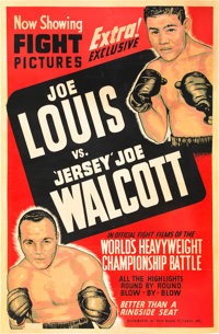 "Joe Louis vs. Jersey Joe Walcott (RKO, 1947). Poster (40"" X 60"")"