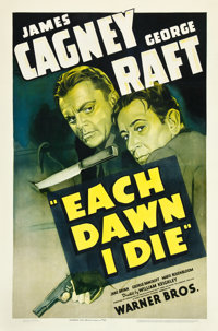 "Each Dawn I Die (Warner Brothers, 1939). One Sheet (27"" X 41"")"