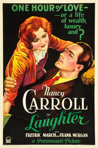 """Laughter (Paramount, 1930). One Sheet (27"""" X 41"""") Style B"""