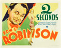 "Movie Posters:Crime, Two Seconds (Warner Brothers, 1932). Title Lobby Card (11"" X 14"")....."