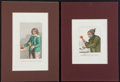 Books:Prints & Leaves, Two Hand-Colored Engravings of English Eccentrics, Ca. 1822. Froman early edition of Wilson's Wonderful Characters. 9 x...(Total: 2 Items)