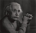 Photographs, YOUSUF KARSH (Canadian, 1908-2002). Albert Einstein, 1948. Gelatin silver, printed later. 19-1/4 x 21 inches (48.9 x 53....