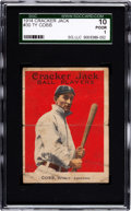 Baseball Cards:Singles (Pre-1930), 1914 E145-1 Cracker Jack Ty Cobb #30 SGC 10 Poor 1....