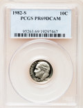 Proof Roosevelt Dimes: , 1982-S 10C PR69 Deep Cameo PCGS. PCGS Population (2512/107). NGCCensus: (383/53). Numismedia Wsl. Price for problem free ...