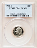 Proof Roosevelt Dimes: , 1982-S 10C PR69 Deep Cameo PCGS. PCGS Population (2529/108). NGCCensus: (383/53). Numismedia Wsl. Price for problem free ...