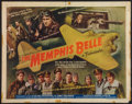 "Movie Posters:War, The Memphis Belle (Paramount, 1944). Half Sheet (22"" X 28""). StyleB. War.. ..."