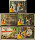 "Movie Posters:Adventure, Cobra Woman (Universal, 1944). Title Lobby Card and Lobby Cards (4)(11"" X 14""). Adventure.. ... (Total: 5 Items)"