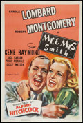 """Movie Posters:Hitchcock, Mr. & Mrs. Smith (RKO, 1941). One Sheet (27"""" X 41"""").Hitchcock.. ..."""