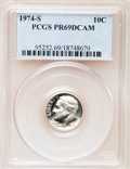 Proof Roosevelt Dimes: , 1974-S 10C PR69 Deep Cameo PCGS. PCGS Population (3167/15). NGCCensus: (49/0). Numismedia Wsl. Price for problem free NGC...