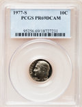 Proof Roosevelt Dimes: , 1977-S 10C PR69 Deep Cameo PCGS. PCGS Population (3815/178). NGCCensus: (230/20). Numismedia Wsl. Price for problem free ...