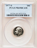 Proof Roosevelt Dimes: , 1977-S 10C PR69 Deep Cameo PCGS. PCGS Population (3840/182). NGCCensus: (231/20). Numismedia Wsl. Price for problem free ...