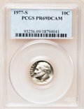 Proof Roosevelt Dimes: , 1977-S 10C PR69 Deep Cameo PCGS. PCGS Population (3842/183). NGCCensus: (231/20). Numismedia Wsl. Price for problem free ...