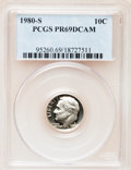 Proof Roosevelt Dimes: , 1980-S 10C PR69 Deep Cameo PCGS. PCGS Population (4865/163). NGCCensus: (408/50). Numismedia Wsl. Price for problem free ...