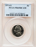 Proof Jefferson Nickels: , 1974-S 5C PR69 Deep Cameo PCGS. PCGS Population (2941/0). NGC Census: (38/0). Numismedia Wsl. Price for problem free NGC/P...