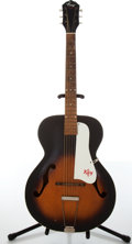 Musical Instruments:Acoustic Guitars, 1960s Kay Archtop Two-Tone Sunburst Acoustic Guitar....