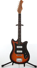 Musical Instruments:Electric Guitars, 1960s Harmony Bobkat H14 Sunburst Electric Guitar. ...