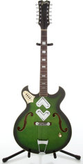 Musical Instruments:Electric Guitars, 1969 Creco GTR Green Burst 12-String Electric Guitar, #26994....