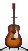 Musical Instruments:Acoustic Guitars, 1960s Harmony H150 Sunburst 3/4 Acoustic Guitar, #S-69-ML....