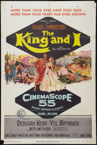 "The King and I (20th Century Fox, 1956). One Sheet (27"" X 41"") and Lobby Card (11"" X 14""). Musical..."