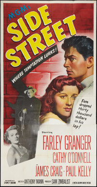 "Side Street (MGM, 1950). Three Sheet (41"" X 81""). Film Noir"