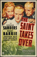 "Movie Posters:Mystery, The Saint Takes Over (RKO, 1940). One Sheet (27"" X 41"") and LobbyCard (11"" X 14""). Mystery.. ... (Total: 2 Items)"