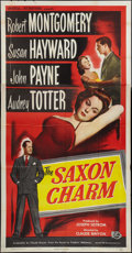 "Movie Posters:Drama, The Saxon Charm (Universal International, 1948). Three Sheet (41"" X 81""). Drama.. ..."