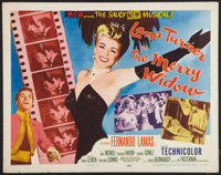 "The Merry Widow (MGM, 1952). Half Sheet (22"" X 28""). Style A. Musical"
