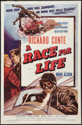 "Movie Posters:Sports, A Race for Life (Lippert, 1954). One Sheet (27"" X 41""). Sports.. ..."