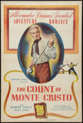 "Movie Posters:Adventure, The Count of Monte Cristo (Eagle Lion, R-1948). One Sheet (27"" X41""). Adventure.. ..."