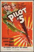 "Movie Posters:War, Pilot #5 (MGM, 1942). One Sheet (27"" X 41""). War.. ..."