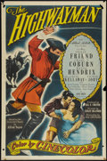 "Movie Posters:Adventure, The Highwayman (Allied Artists, 1951). One Sheet (27"" X 41"").Adventure.. ..."
