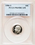 Proof Roosevelt Dimes: , 1986-S 10C PR69 Deep Cameo PCGS. PCGS Population (2671/147). NGCCensus: (244/51). Numismedia Wsl. Price for problem free ...