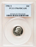 Proof Roosevelt Dimes: , 1986-S 10C PR69 Deep Cameo PCGS. PCGS Population (2699/152). NGCCensus: (259/53). Numismedia Wsl. Price for problem free ...